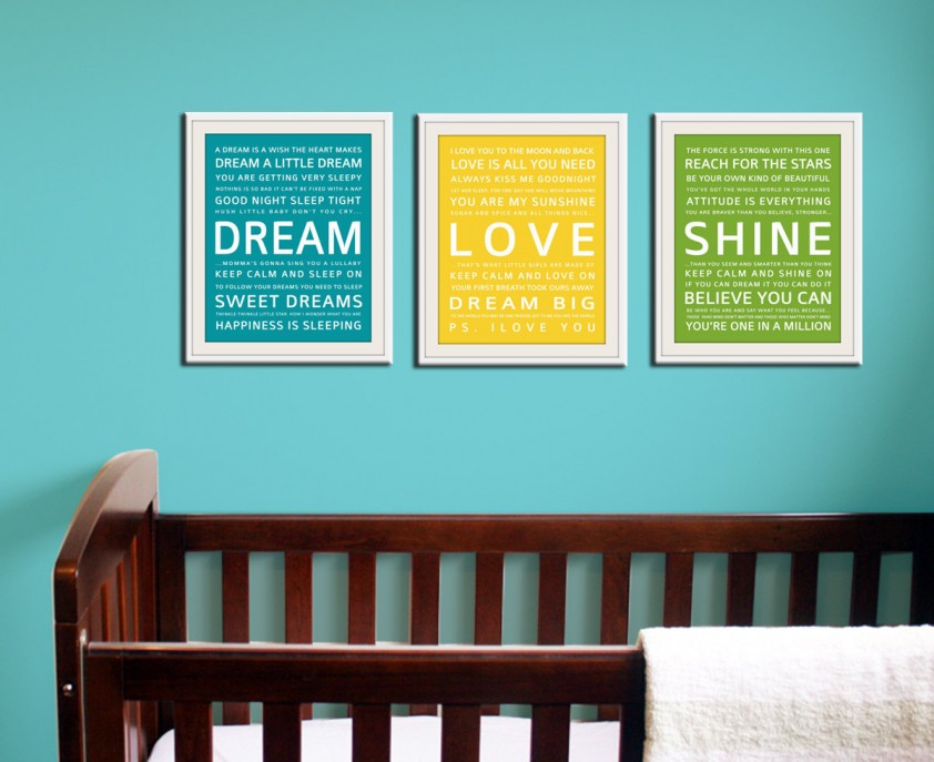 Nursery Quote Framed Art