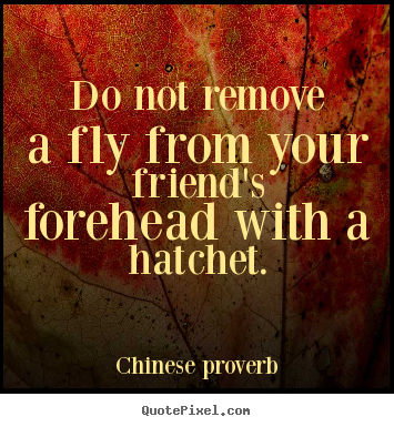 chinese proverb picture quotes do not remove a fly from