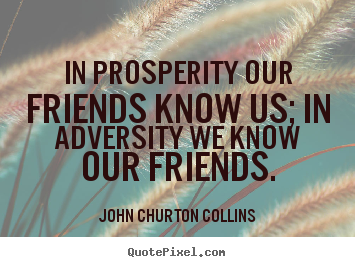 Quote about friendship - In prosperity our friends know us; in adversity..