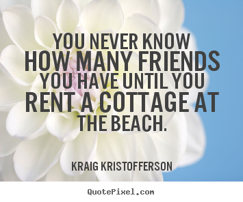 Design picture quotes about friendship - You never know how many friends you have until..