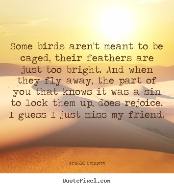 Quotes about friendship - Some birds aren't meant to be caged, their..
