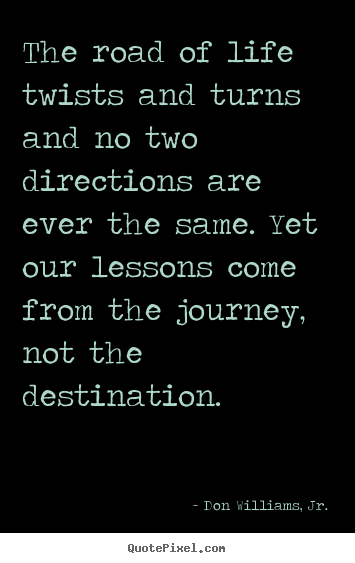 Quotes about inspirational - The road of life twists and turns and no two directions..