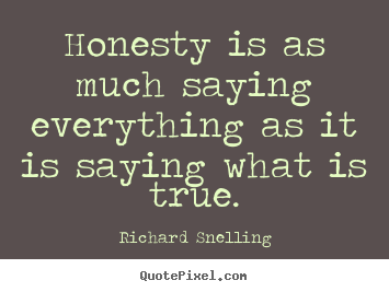 Customize picture quotes about inspirational - Honesty is as much saying everything as it is saying..