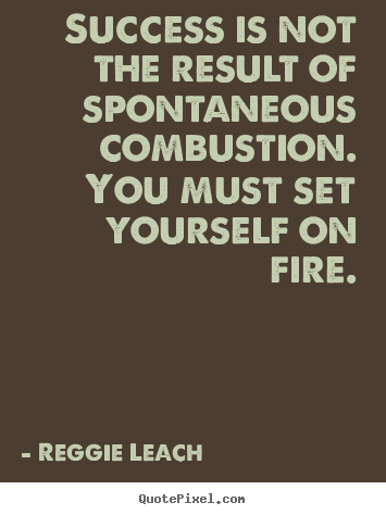 Inspirational quotes - Success is not the result of spontaneous combustion...