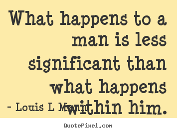 Quotes about inspirational - What happens to a man is less significant than..