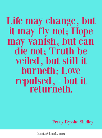 Quotes about inspirational - Life may change, but it may fly not; hope may vanish,..