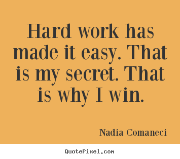 Quotes about inspirational - Hard work has made it easy. that is my secret. that is..