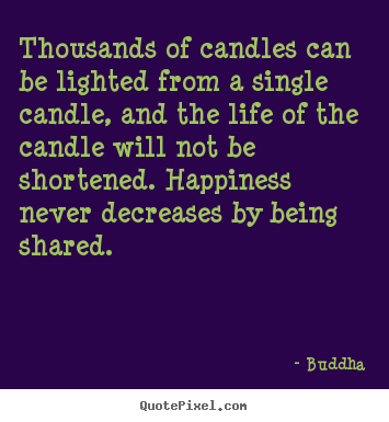 Thousands of candles can be lighted from a.. Buddha famous inspirational quotes