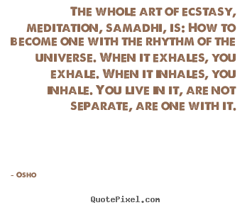 Osho picture quotes - The whole art of ecstasy, meditation, samadhi,.. - Inspirational quotes