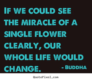 Life quotes - If we could see the miracle of a single flower clearly, our whole life..