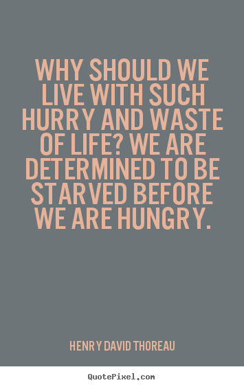 Make photo quotes about life - Why should we live with such hurry and waste of life? we are determined..