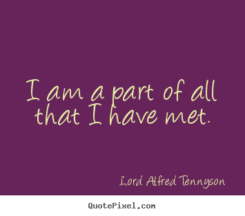Make photo quote about life - I am a part of all that i have met.
