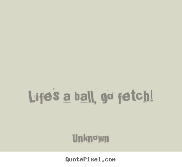 Life quote - Life's a ball, go fetch!