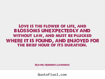 Life quote - Love is the flower of life, and blossoms unexpectedly..