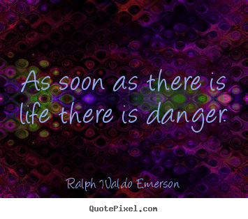 Quotes about life - As soon as there is life there is danger.