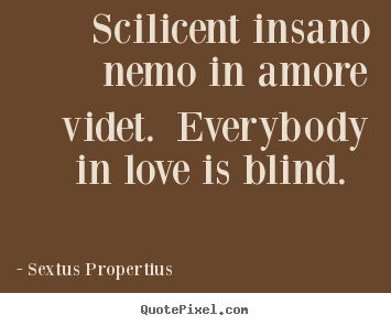 Sextus Propertius picture quote - Scilicent insano nemo in amore videt. everybody in.. - Love quotes