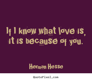 Love quotes - If i know what love is, it is because of you.