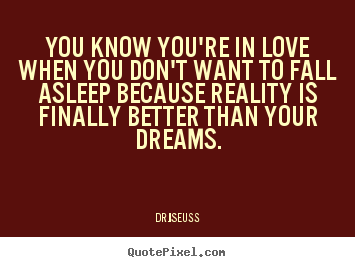 Create graphic image quotes about love - You know you're in love when you don't want to fall..
