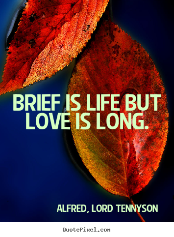 Quotes about love - Brief is life but love is long.
