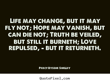 Quotes about love - Life may change, but it may fly not; hope..