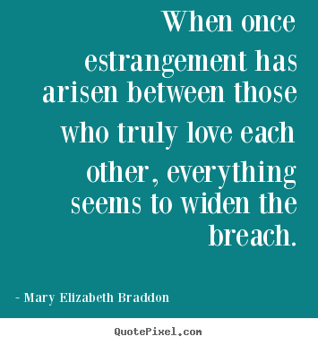 Mary Elizabeth Braddon photo quotes - When once estrangement has arisen between those who truly love each.. - Love quotes