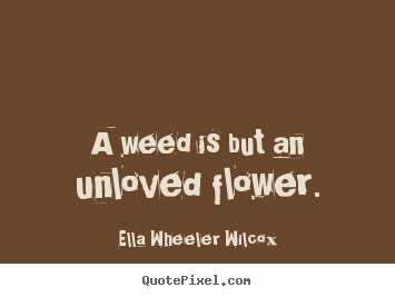 Create picture quotes about love - A weed is but an unloved flower.