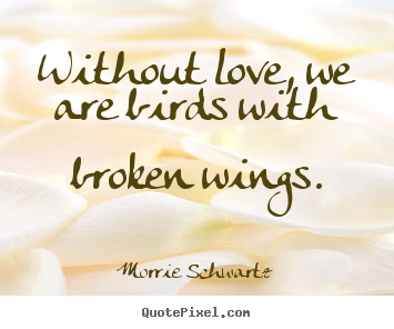 Quotes About Love Birds : Sayings about love - Without love, we are birds with broken wings.