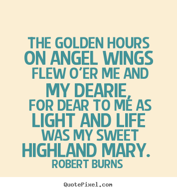 Love quotes - The golden hours on angel wings flew o'er..