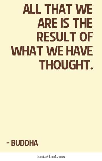Motivational quote - All that we are is the result of what we have thought.