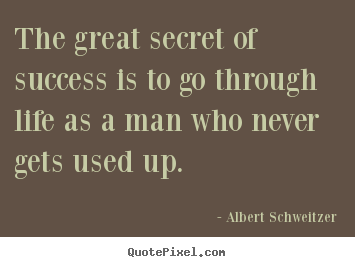 The great secret of success is to go through.. Albert Schweitzer  success quotes