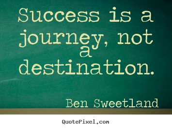Create graphic picture quotes about success - Success is a journey, not a destination.