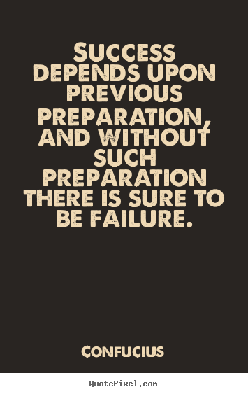 Create graphic picture quotes about success - Success depends upon previous preparation, and without..
