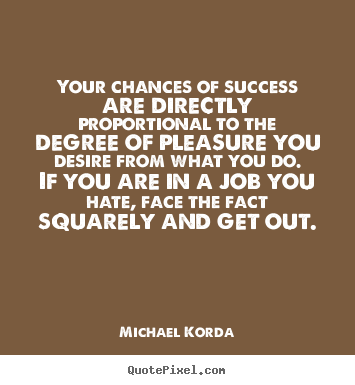 Diy photo quotes about success - Your chances of success are directly proportional to the degree..