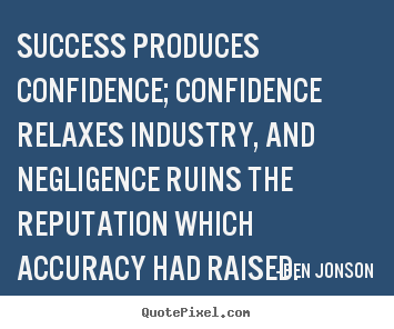How to make picture quotes about success - Success produces confidence; confidence relaxes..
