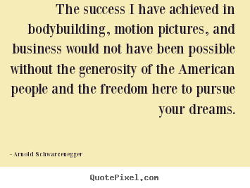 Success quotes - The success i have achieved in bodybuilding, motion pictures,..